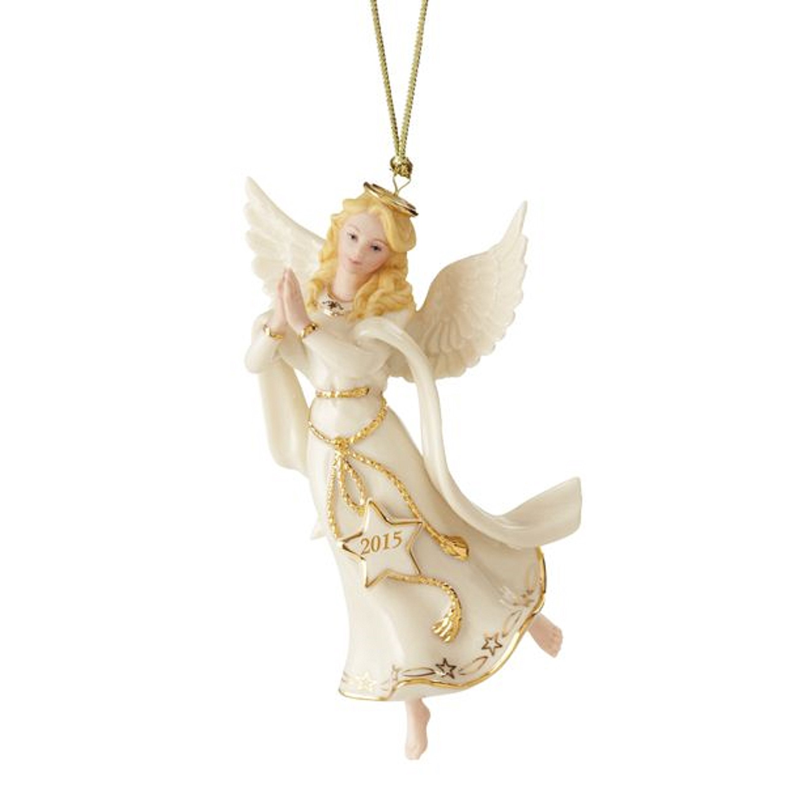 Lenox Christmas 2015 Annual Angel of Adoration Ornament Figurine