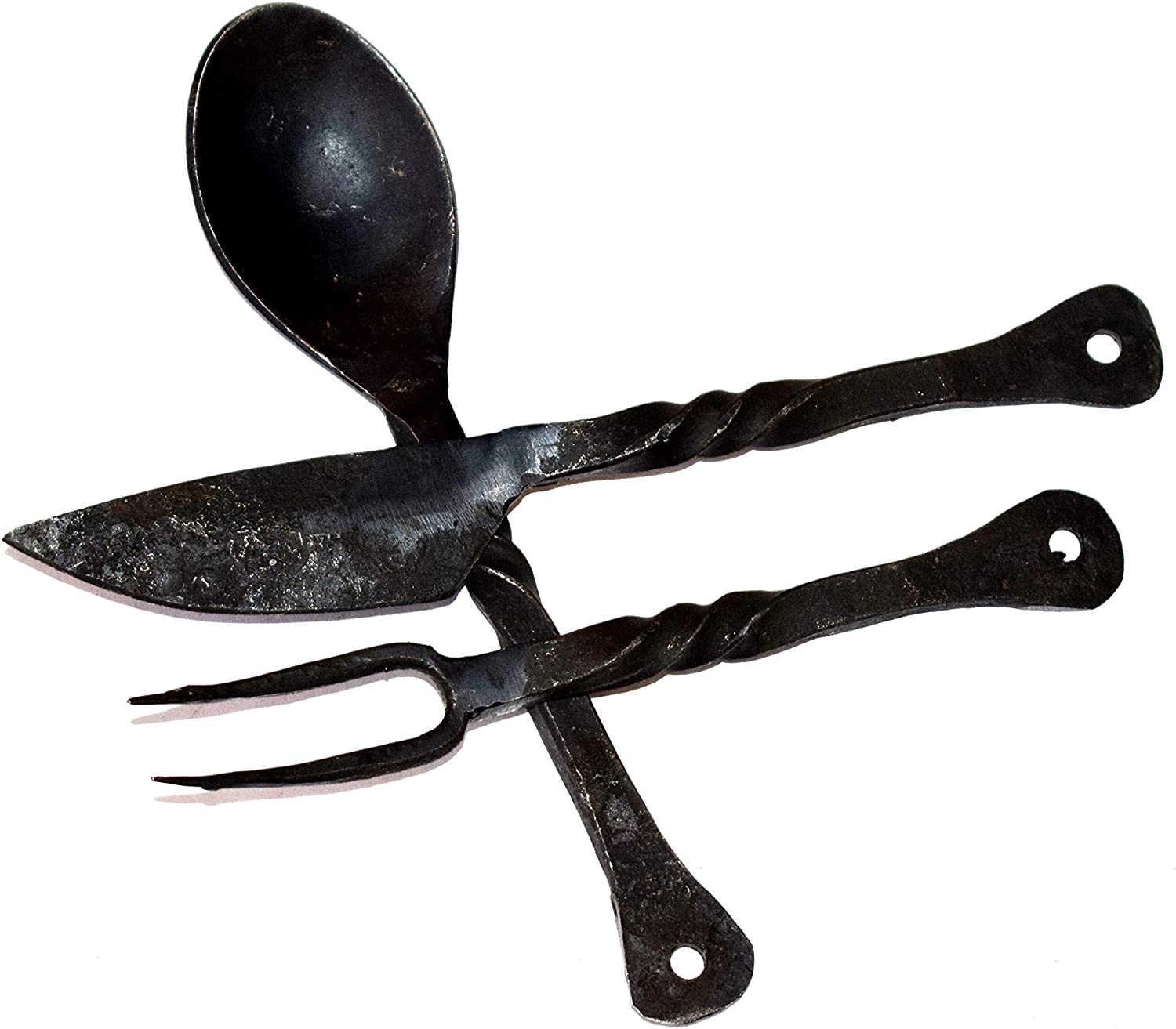 OLD MEMORIES GALLERY Medieval Eating Utensil Set (Knives, Cutlery, Iron Spoon) Nautical Decor