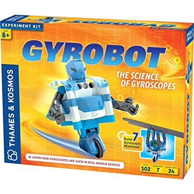Thames & Kosmos Gyrobot, Tightrope Walking Gyroscopic Robot Science Kit: Toys & Games [5Bkhe0206746]