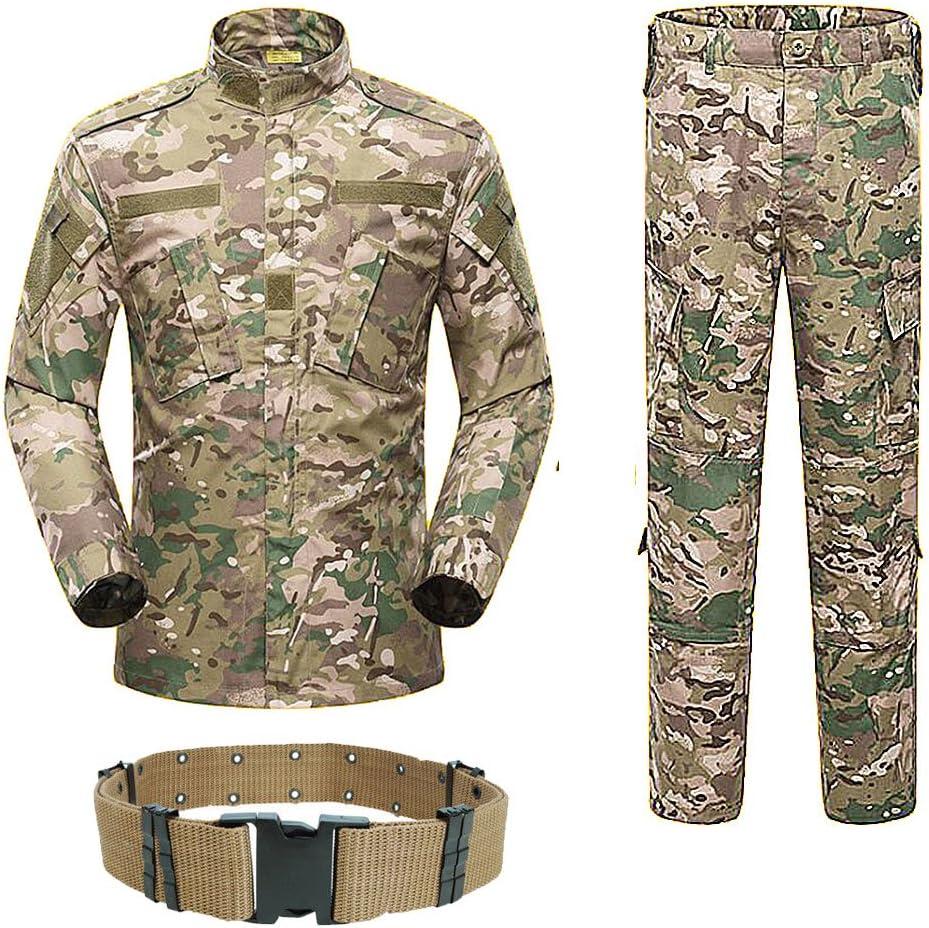 H World Shopping Uomo Tactical BDU Uniforme Giacca Camicia e Pantaloni Tuta per Esercito Militare Airsoft Paintball Caccia Gioco di Guerra Multicam MC