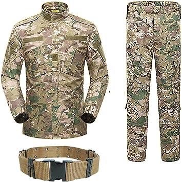 H World Compras hombres táctico BDU combate uniforme camisa y pantalones traje para ejército militar airsoft paintball caza tiro juego guerra Multicam MC: Amazon.es: Deportes y aire libre