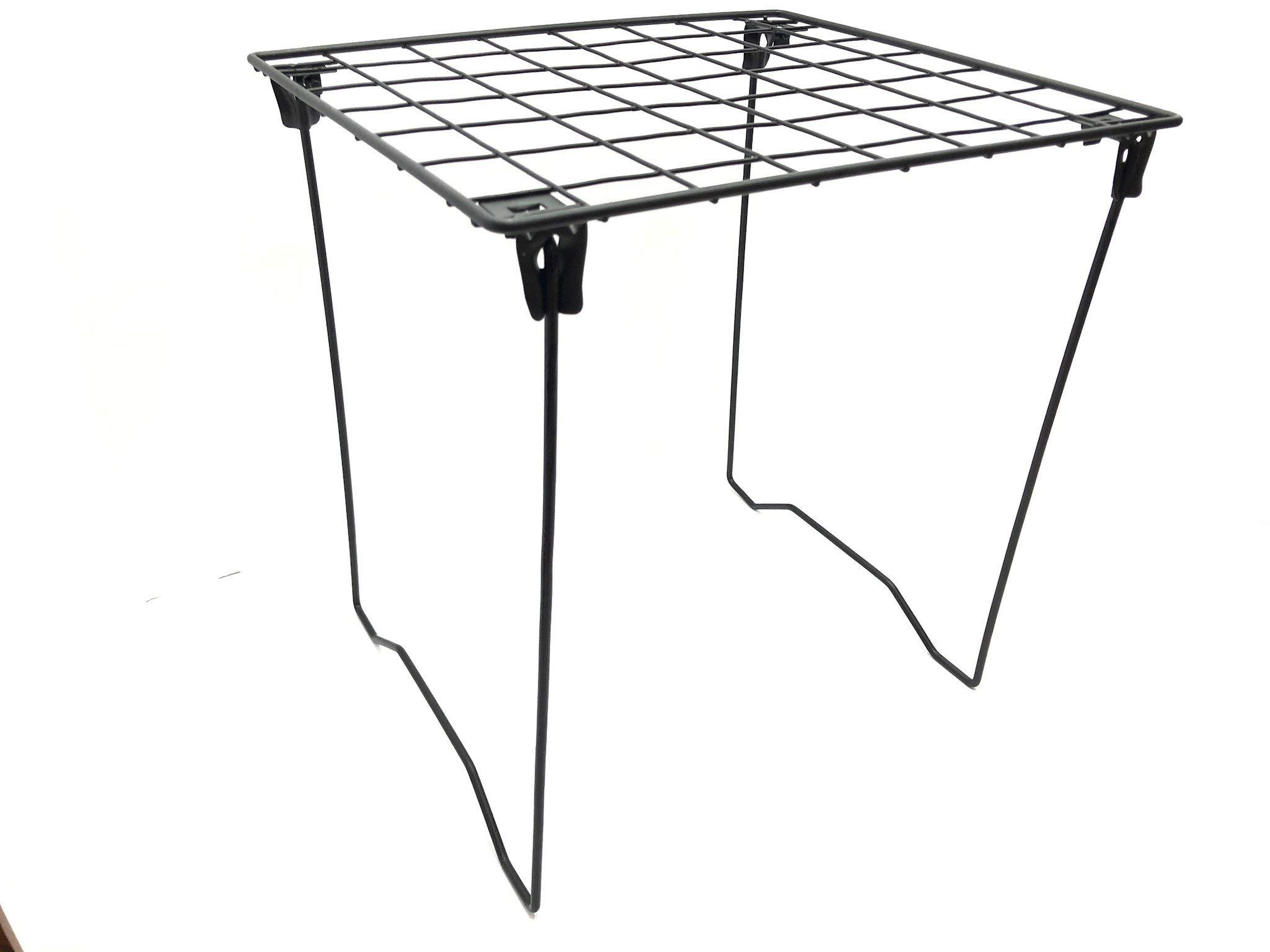 Midnight Black Locker Shelf - Foldable Stac Mate Shelf for Office, Home or School