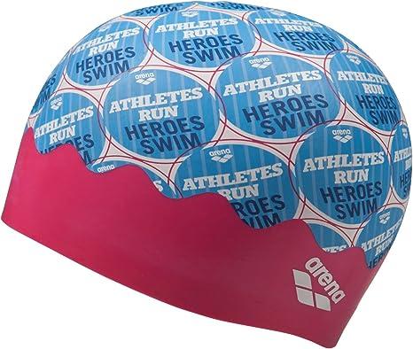ARENA 1E774/901 Gorro de natación Azul, Rojo Silicona - Gorros de natación (Adulto, Unisex, Azul, Rojo, Silicona, One Size, Silicone, 100): Amazon.es: Deportes y aire libre