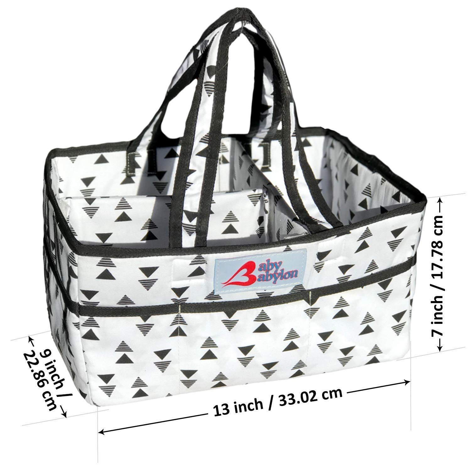 Large Organizer Tote Bag For Infant Boy Or Girl Baby Loyal Lily Miles Baby Diaper Caddy