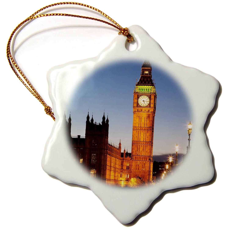 3dRose orn/_139851/_1 Houses of Parliament England-Eu33 Bjn0041-Brian Jannsen-Snowflake Ornament London Porcelain 3-Inch Big Ben