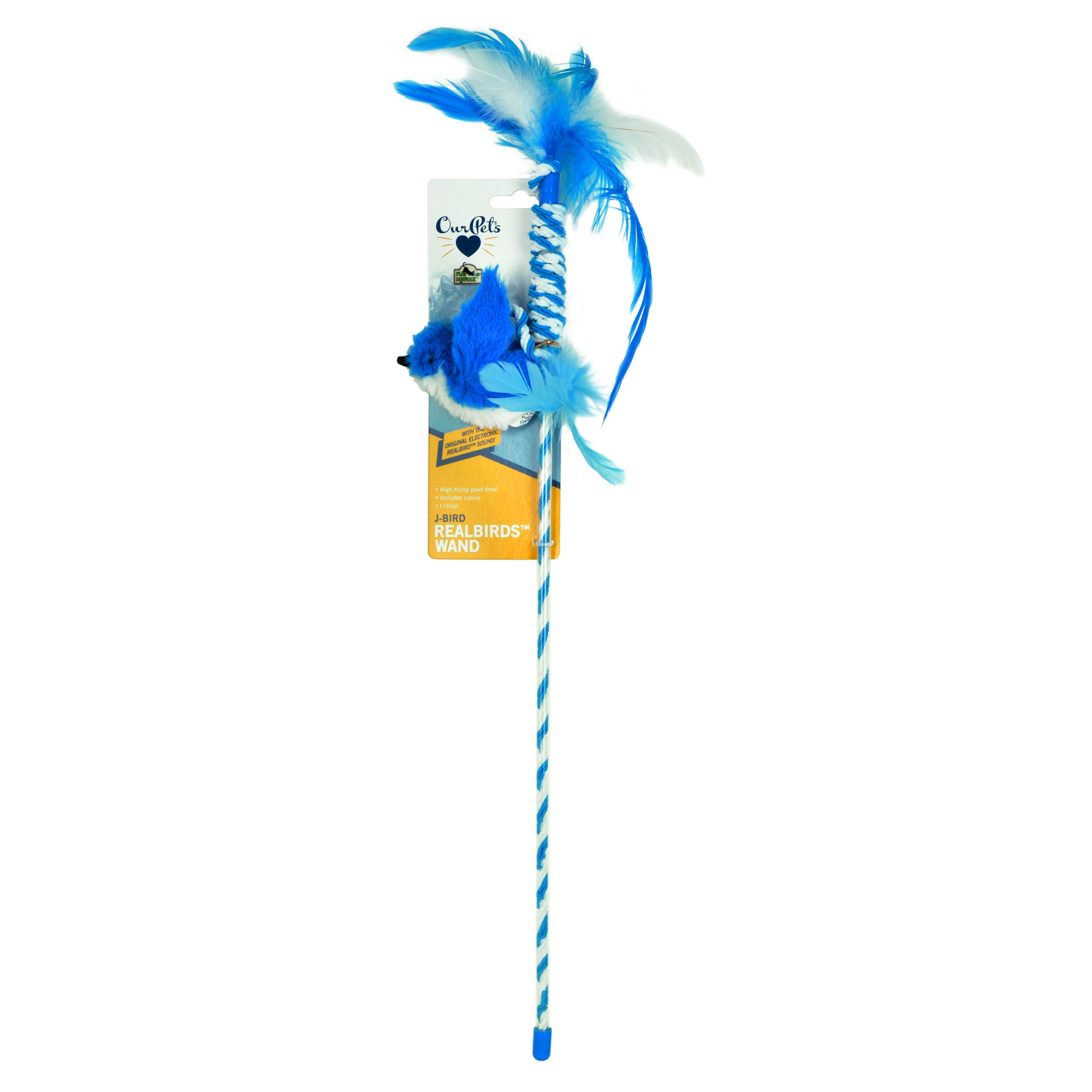 Our Pets Play-N-Squeak RealBirds J-Bird Wand Pet Squeak Interactive Cat Toy by Our Pets (Image #2)