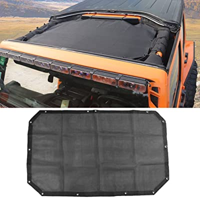 Mesh Bikini Top Sunshade for Jeep Wrangler Unlimited JK JKU 2007~2020 UV Protection Heat Shield, Windshield Visor: Automotive