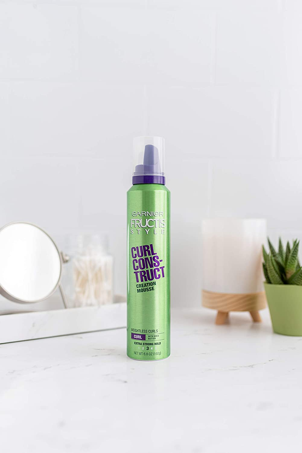 Garnier Fructis Style Curl Construct Creation Mousse, Curly Hair, 6.8 oz. : Curl Enhancers : Beauty