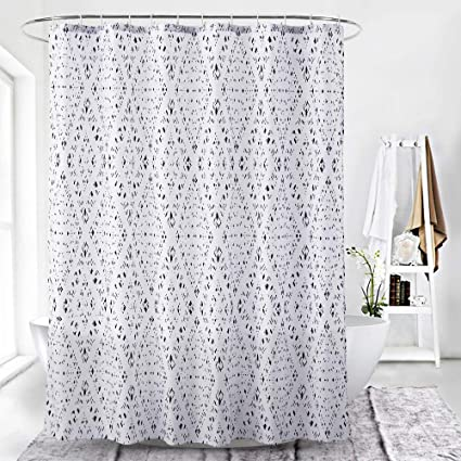 CAMAL Simple Geometric Pattern Shower Curtains Anti Mildew Waterproof Standard Curtain For Bathroom