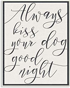 "Stupell Industries Always Kiss Your Dog Goodnight Tan Wall Plaque, 10"" x 15"""