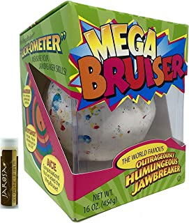 "product image for JUMBO JAWBREAKER 1 Pack (16 oz) Sconza 3 3/8"" The Mega Bruiser Individually Boxed with a Jarosa Chocolate Bliss Lip Balm"