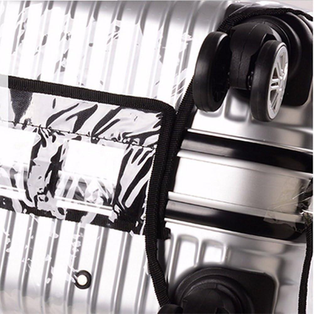 accessoire pour bagage housse anti-poussi/ère pour valise PVC 30 inches Housse de protection en PVC Yhlve pour valise /étanche transparente Transparent6