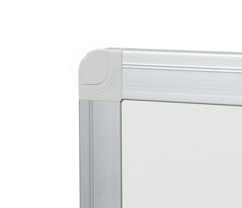 esmaltado con marco de aluminio, 60 x 90 cm Dahle Tablero de pared color blanco