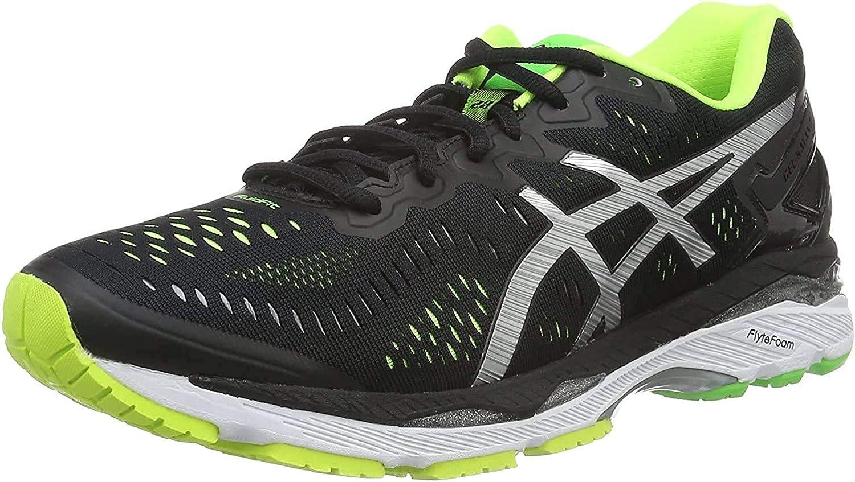 Asics Gel-Kayano 23, Zapatillas de Running para Hombre, Multicolor (Black/Silver/Safety Yellow), 41.5 EU: Amazon.es: Zapatos y complementos