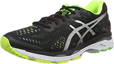 Asics Gel-Kayano 23, Zapatillas de Running para Hombre, Multicolor (Black/Silver/Safety Yellow), 40.5 EU: Amazon.es: Zapatos y complementos