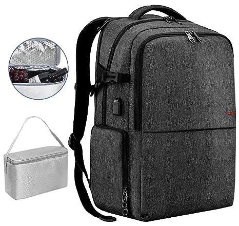 SLOTRA Zaino da Viaggio Picnic 17 pollici Zaino per PC Portatile con USB  Scomparto Indipendente per 2e533298f80