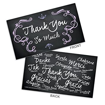Amazon chalkboard colored thank you business cards 35 x 20 chalkboard colored thank you business cards 35quot x 20quot with smooth satin colourmoves