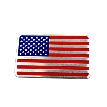 American flag aluminum car emblem badge sticker