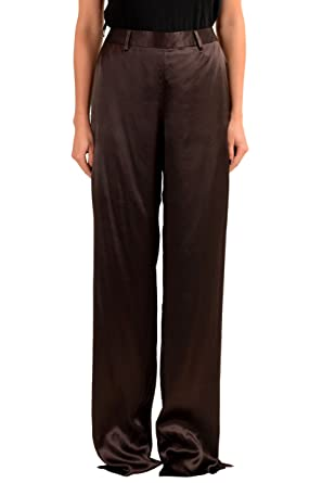 8ee5fb891 Maison Margiela Women's 100% Silk Brown Dress Pants US 4 IT 40 at ...