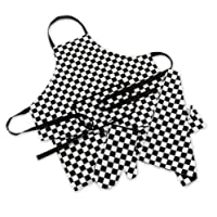 Mad About Cooking - 3 Piece Chef Set - Black and White Check
