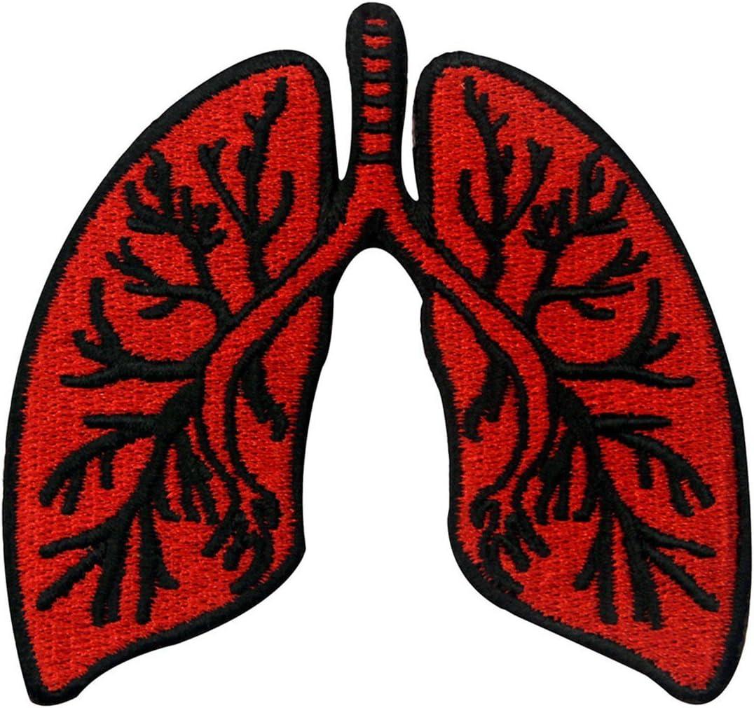 X線解剖学的肺刺繍のバッジのアイロン付けまたは縫い付けるワッペン