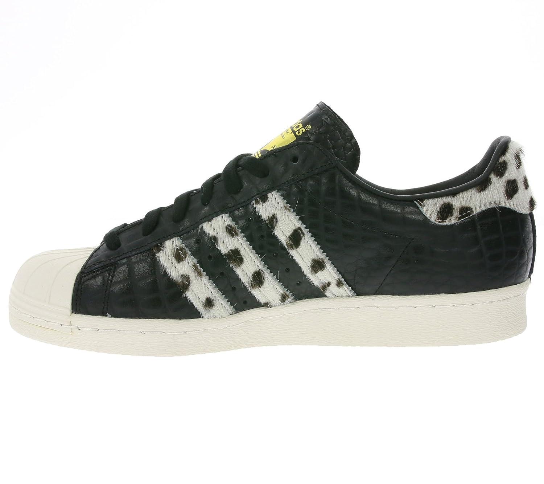 Adidas Superstar 80s Animal, core nero chalk chalk chalk bianca oro metallic | Offerta Speciale  8e3638