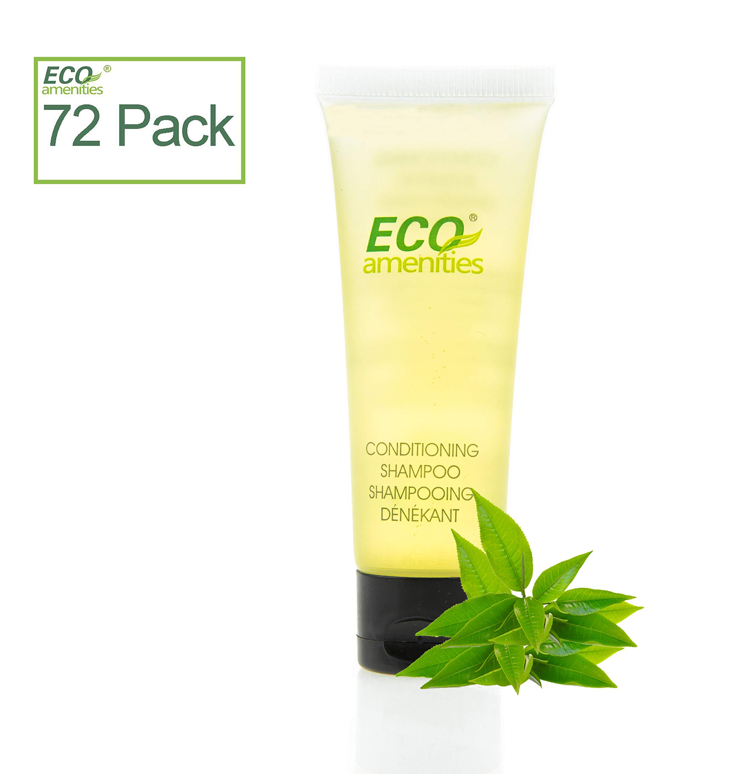 ECO amenities Transparent Tube Flip Cap Individually Wrapped 30ml Shampoo & Conditioner 2 in 1, 72 Tubes per Case by ECO Amenities