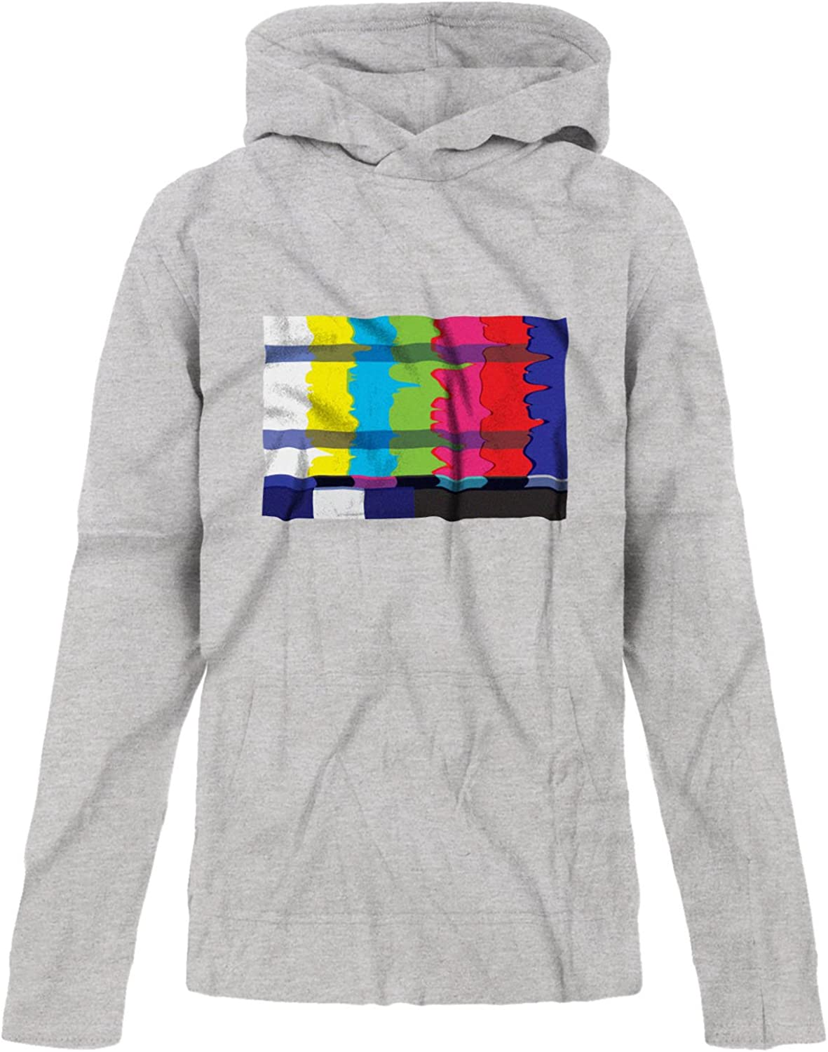 BSW Youth Girls No Channel Color Bars Vintage Off-Air TV Premium Hoodie