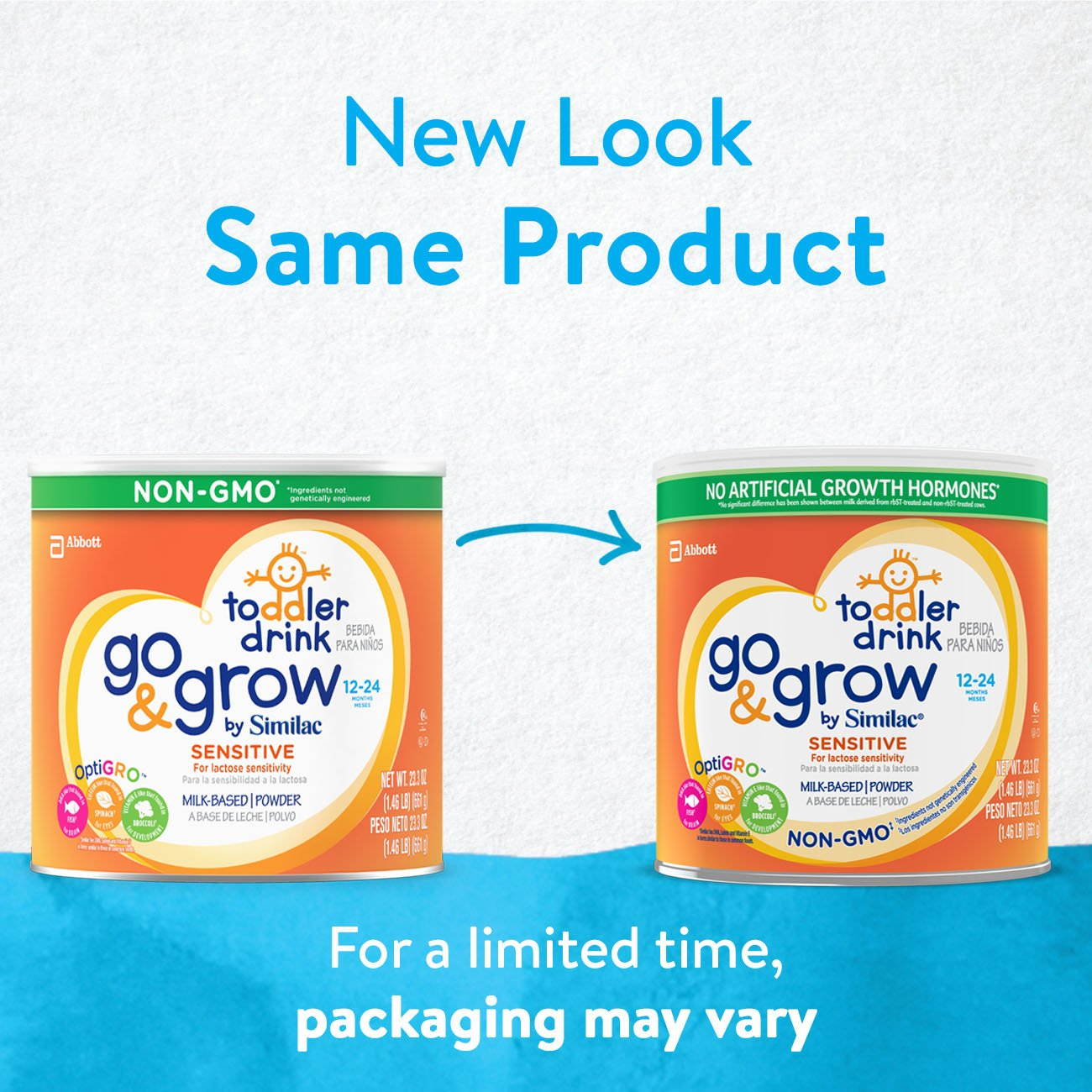 Similac Go and Grow Sensitive Toddler Drink, Stage 3 Powder, 10.9 Pound by Similac (Image #2)