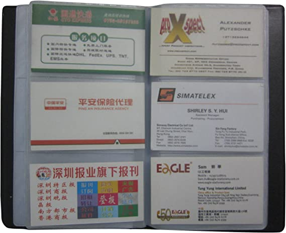 Entreprise Carte titulaire 300 cartes Capacit/é Porte Cartes de Visite Carte de Livre PVC Cartes pour Ranger Carte de Visite Cartes Fid/élit/é Porte Carte de Cr/édit