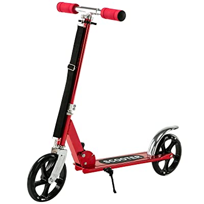Uenjoy Kick Scooter ,Folding Scooter for Kids,Red Stunt Scooter Adjustable Height with 2 Big Wheels,Age 3-12 Years Old,Best Gifts for Boys Girls: Toys & Games