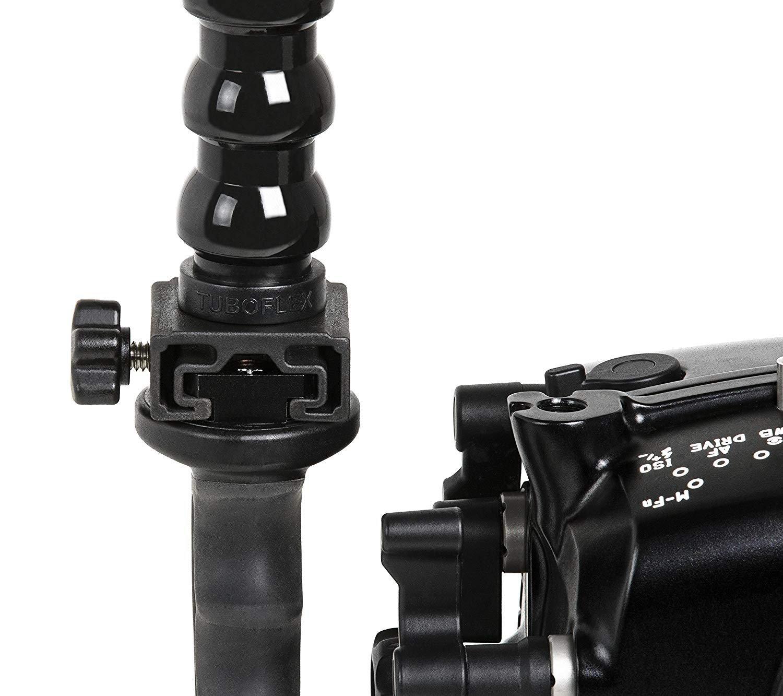 Supporto Torce Cilindriche Fotosub Adattatore Slitta T1 Universale staffa e maniglie subacquea FLEX ARM 600.W30BK