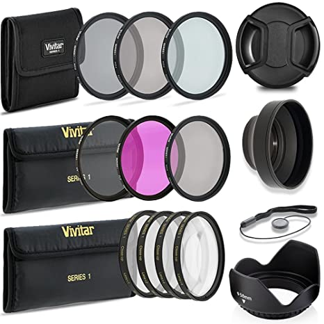 Professional 58MM Filter Accessory Kit 10 Piece Compact Accessories For Canon Filters