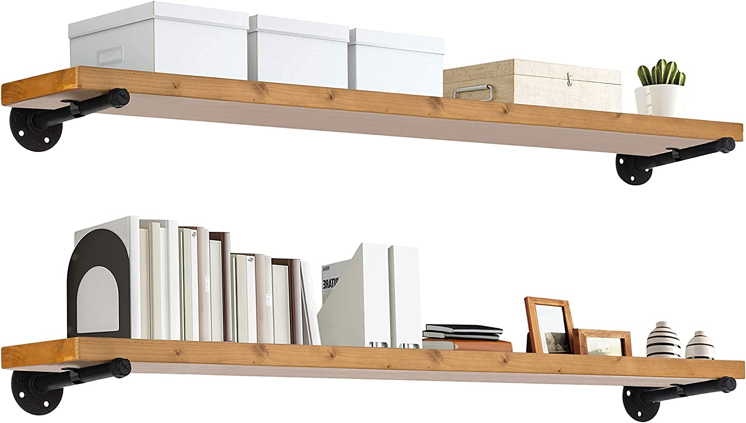 TEN49 Industrial Wood Shelf - 48