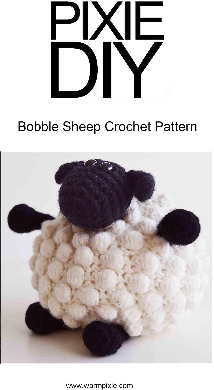 Amigurumi de hilos de diseño de oveja con borla: Amazon.es: Hogar