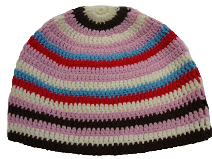 Mm Kufi Hat Crochet Cap Beanie Pink Brown White Red At Amazon Mens