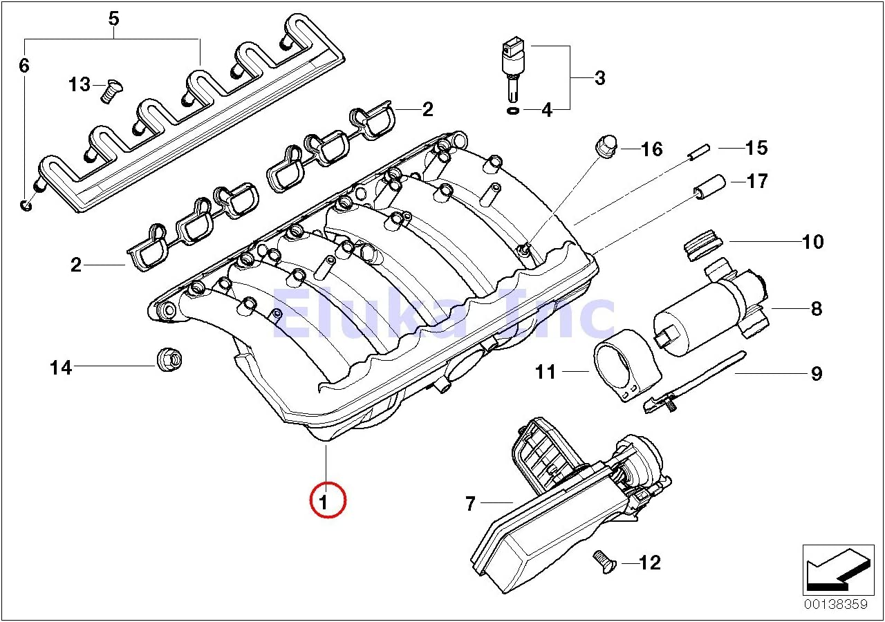 Amazon.com: BMW Genuine Engine Air Fuel Preparation Intake Manifold 525i  320i 325Ci 325i 325xi 525i X3 2.5i Z4 2.5i Z3 2.5i: AutomotiveAmazon.com