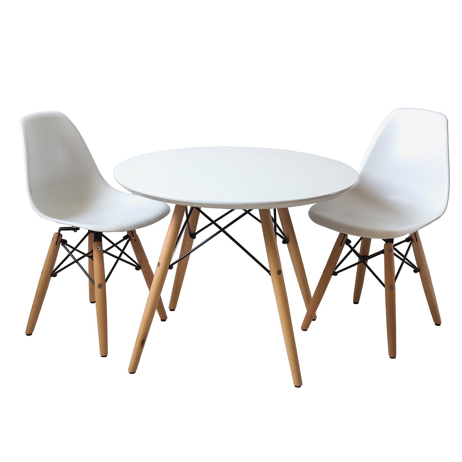 Amazon Buschman Set of Table and 2 White Kids Eames Style