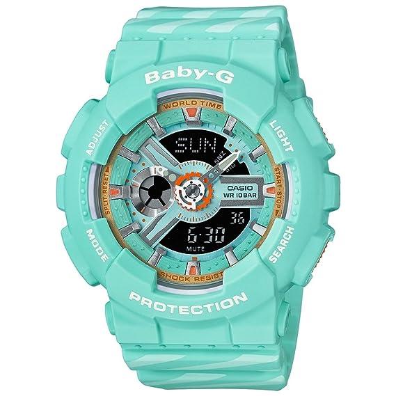 Casio Reloj Analógico-Digital para Mujer de Cuarzo con Correa en Resina BA-110CH-3AER: Amazon.es: Relojes