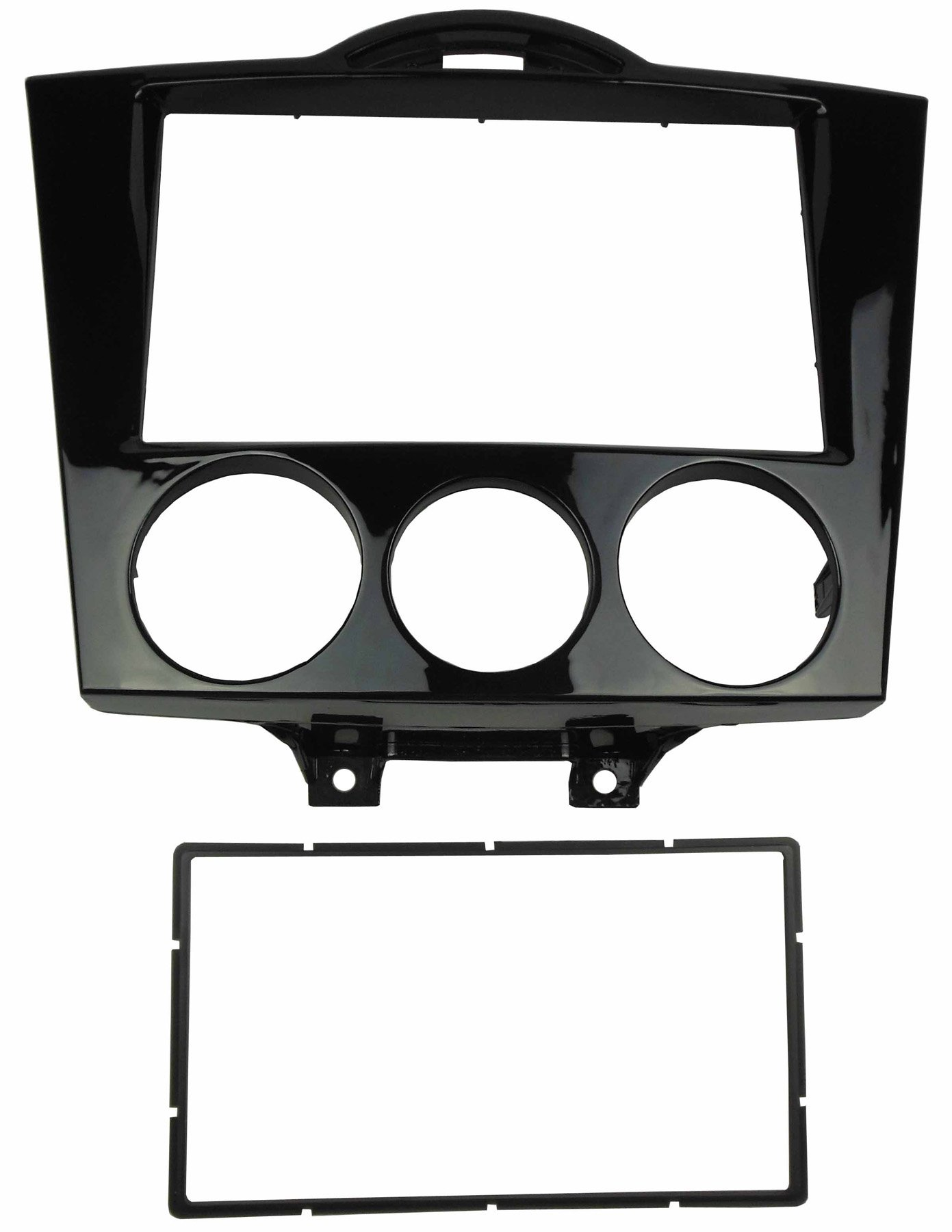 DKMUS Double Din Radio Stereo Dash Installation Mount Trim Kit for Mazda Rx-8 2004-2008 Fascia in Size 173*98mm or 178*102mm Gloss Black