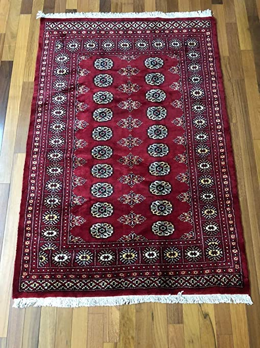 Amazon Com 6 X 4 3 Ft Red Hand Knotted Red Bokhara Rug
