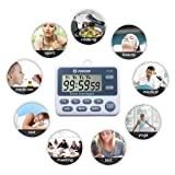 TuoPuLife 4 Channels Digital Kitchen Timer, Cooking