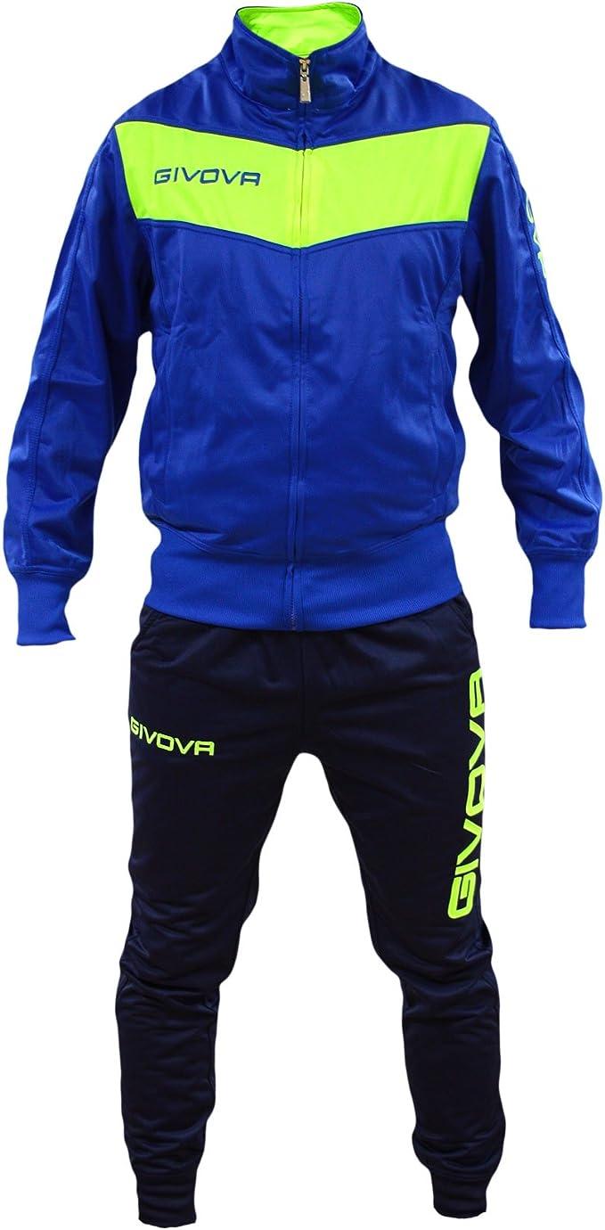 Perseo Sport - Chándal - para Hombre Azzurro/Giallo Fluo XL ...