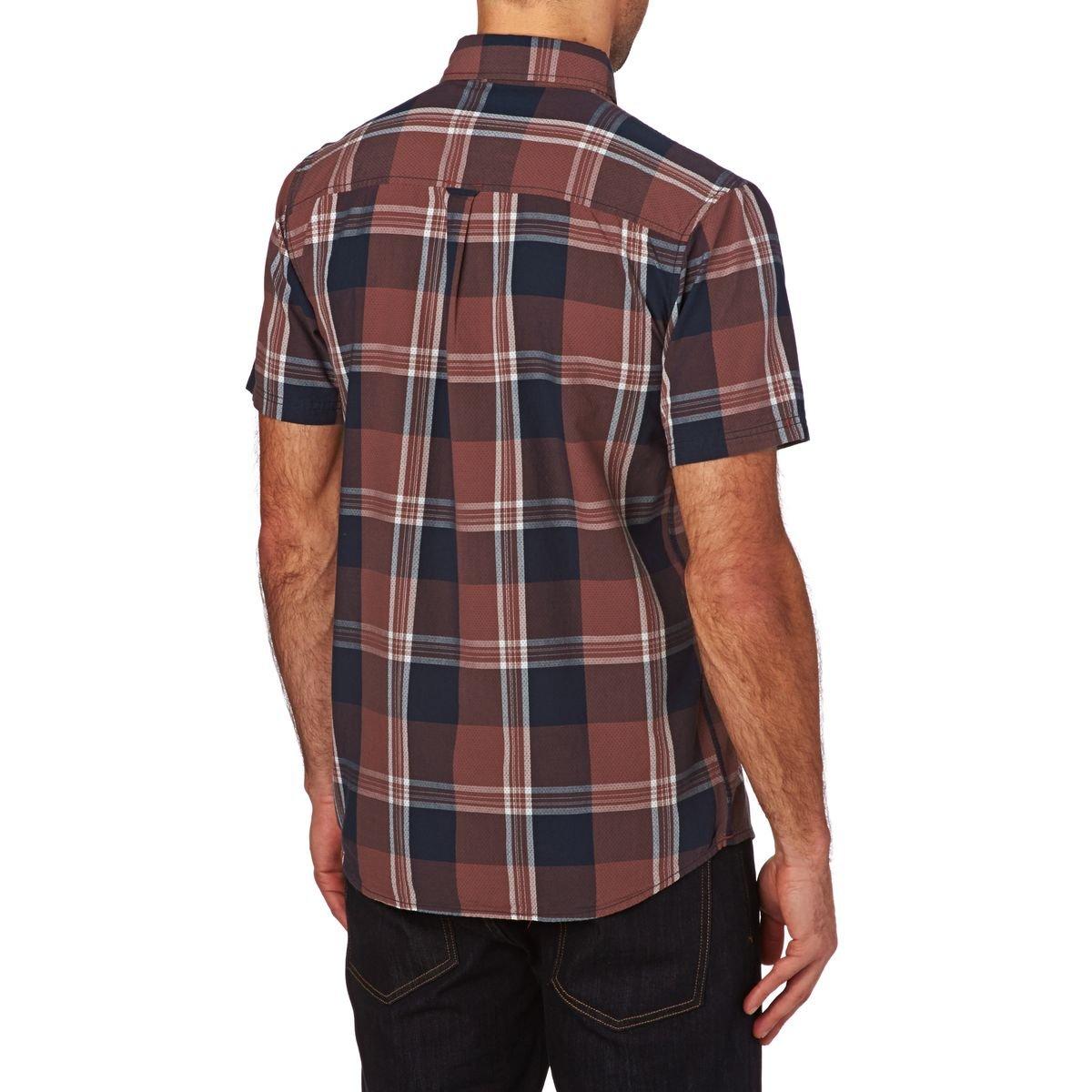 ELEMENT Deschutes Short Sleeve Shirt in Marsala Large
