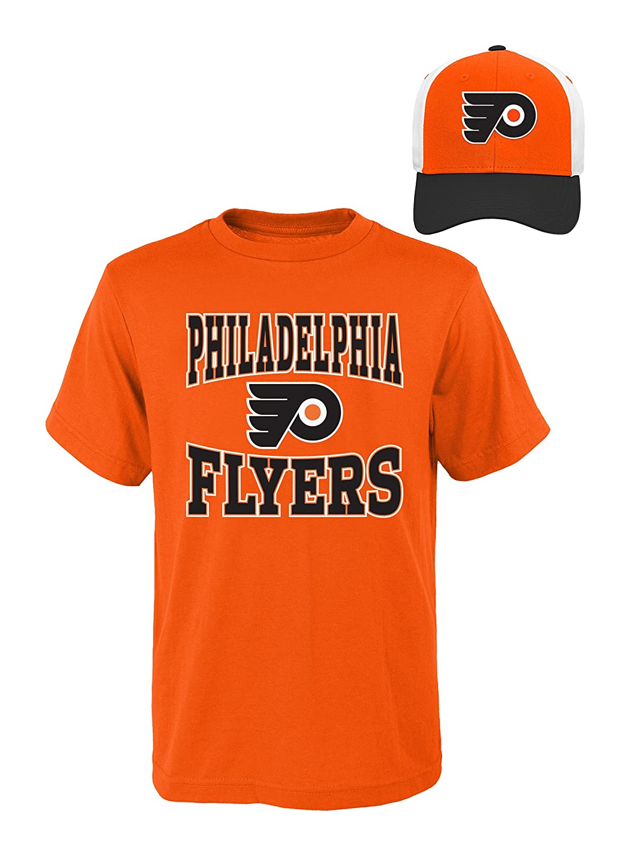 【福袋セール】 (Philadelphia Flyers, M(10-12)) - B01M1FN2DP (Philadelphia NHL Youth Boys 8-20 Tee - & Hat Set B01M1FN2DP, モギリボンド ヤマザキ:673fddc8 --- a0267596.xsph.ru