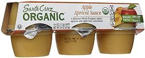 Santa Cruz Organic Apple Apricot Sauce Cups, 4 oz, 6 ct