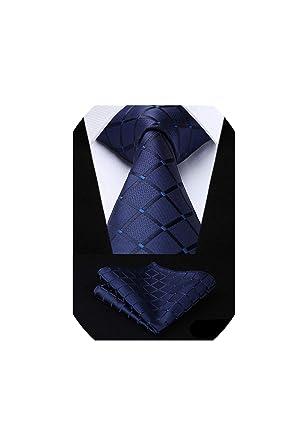 Bert-Collins Hombres seda tejida boda corbata del lazo del pañuelo ...