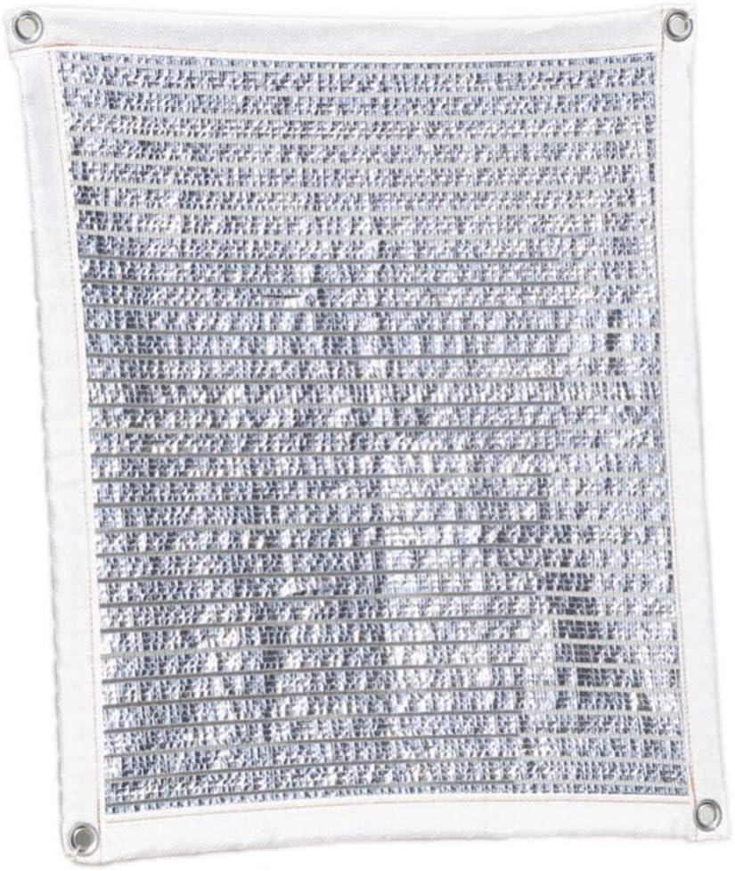 YGUOZ 75% Pesado Vela De Sombra, Grueso Papel de Aluminio Malla sombreo toldo, Transpirable Robusto Toldo, para Puerta Patio Pérgola Invernadero,Silver_1x1m(3x3ft): Amazon.es: Hogar