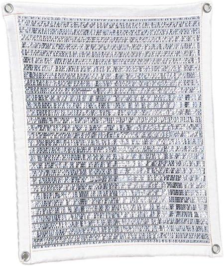 YGUOZ 75% Pesado Vela De Sombra, Grueso Papel de Aluminio Malla sombreo toldo, Transpirable Robusto Toldo, para Puerta Patio Pérgola Invernadero,Silver_7x1m(23x3ft): Amazon.es: Hogar