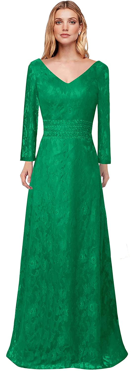 MaliaDress Womens Lace Long Mother of Bride Dress Evening Gown M215LF